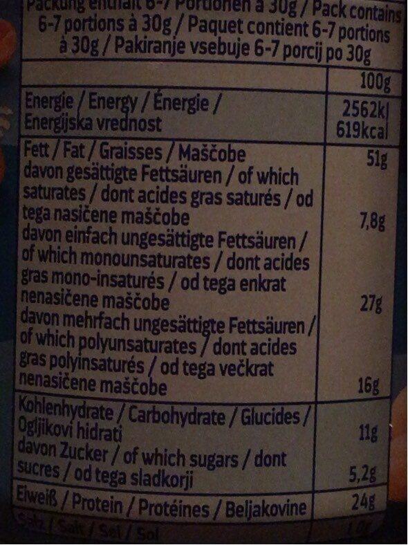 Erdnüsse, geröstet und gesalzen - Valori nutrizionali - de