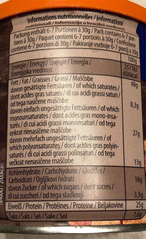 ültje Extra Roast Erdnüsse Gesalzen 190G - Informations nutritionnelles