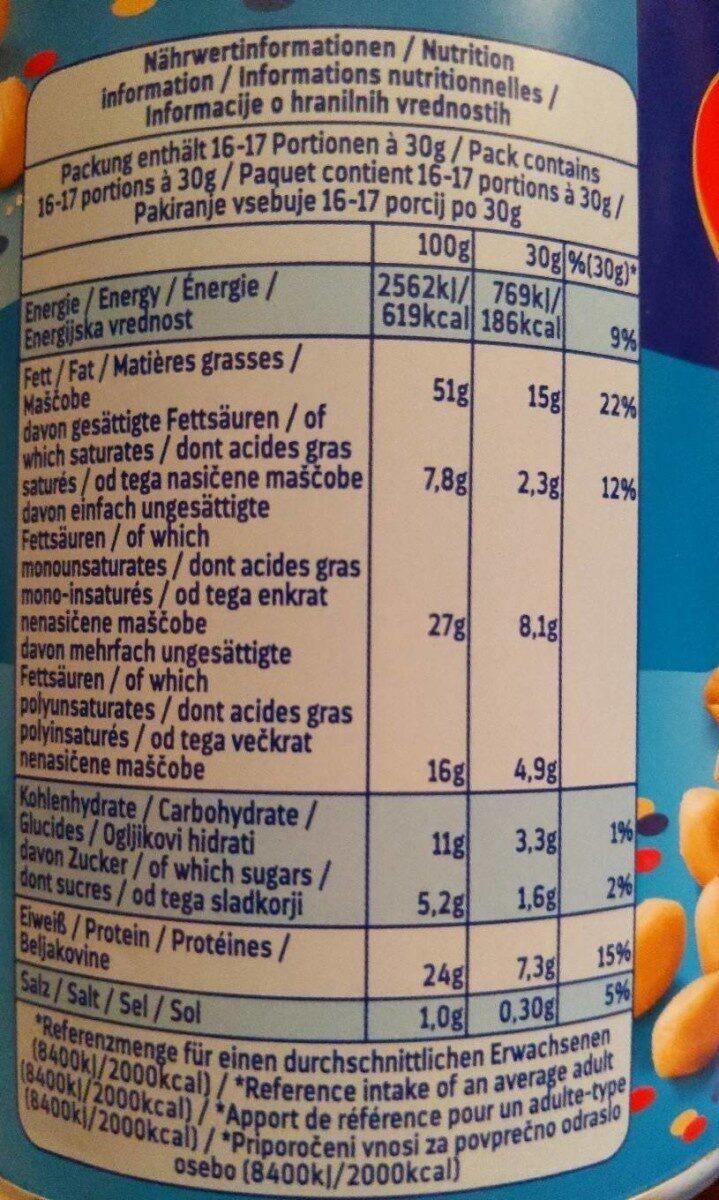 Cacahuètes Salées ültje 500 GR, 1 Boîte - Valori nutrizionali - de