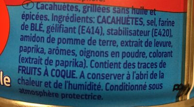 Erdnüsse ohne Fett im Ofen geröstet - Ingrédients - fr