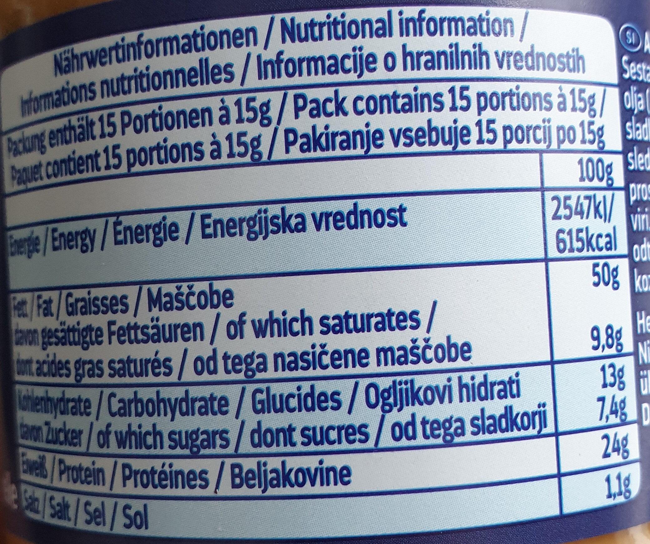 ültje Erdnuss Creme Creamy - Voedingswaarden