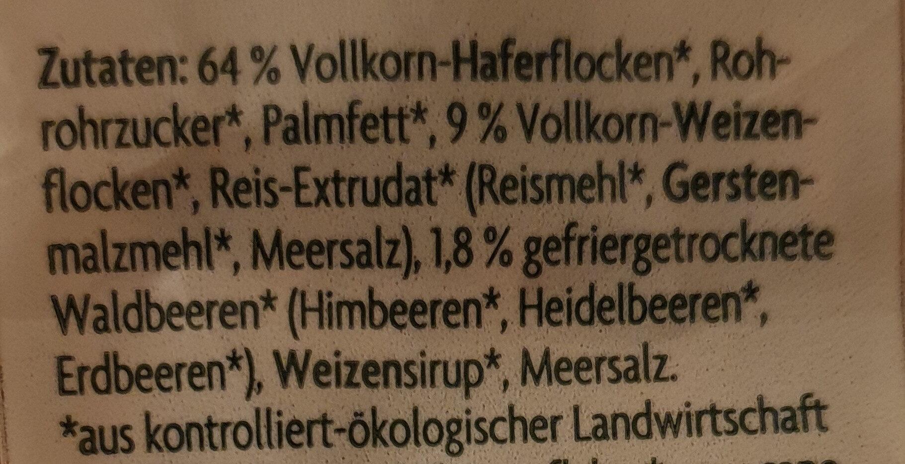 Crunchy Waldbeere - Zutaten - de