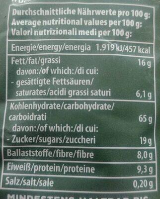 Crunchy Waldbeere - Nährwertangaben