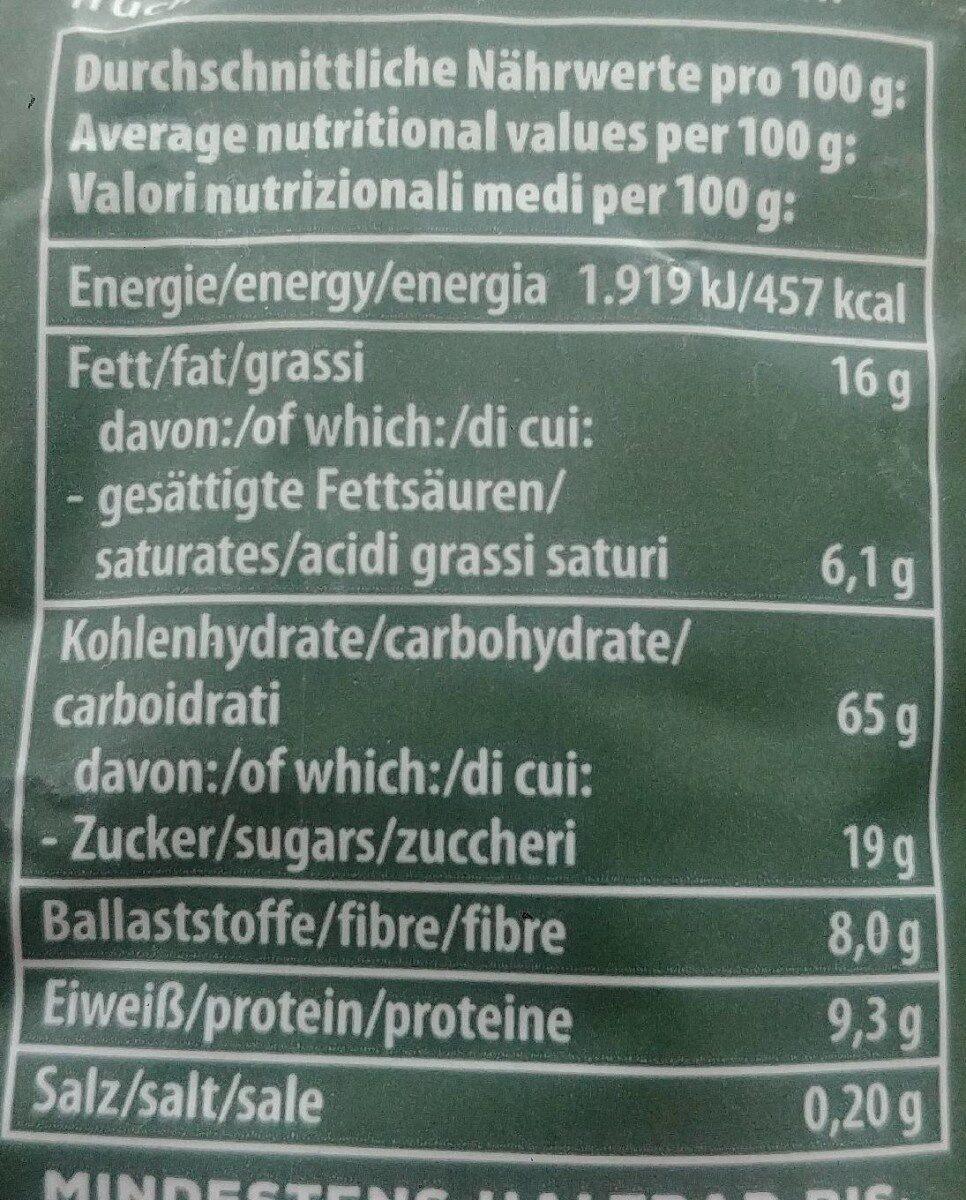 Crunchy Waldbeere - Nährwertangaben - de