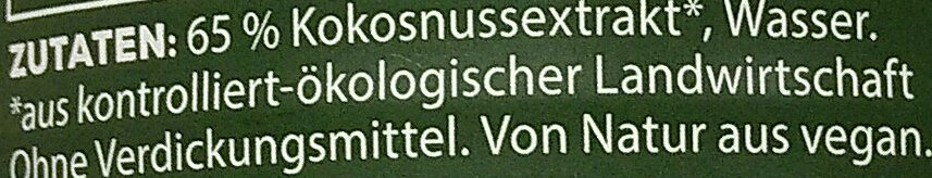 Bio Zentrale Kokosmilch - Zutaten - de