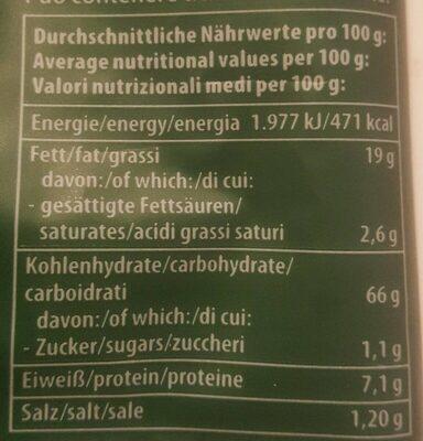 Mini Maiswaffeln Paprika - Informations nutritionnelles - en