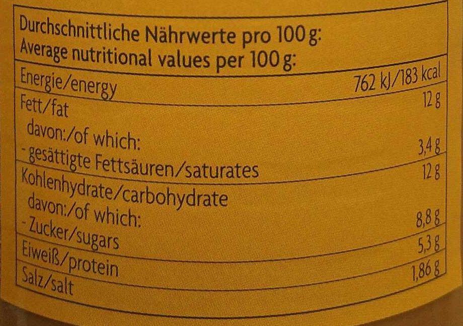 Sauce Erdnuss-Saté - Nutrition facts