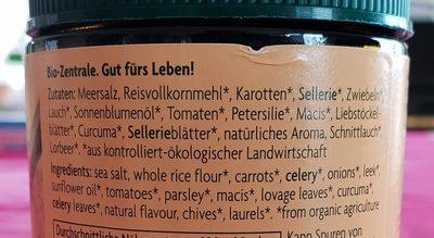 Gemüsebrühe - Ingredients - fr