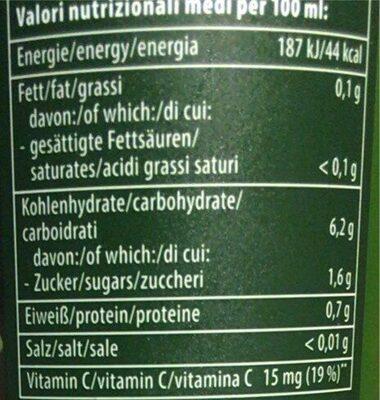100% Direktsaft Limette - Informations nutritionnelles - de