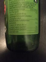 Zitronensaft - Informations nutritionnelles