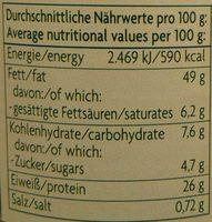 Erdnussmus crunchy - Voedigswaarden