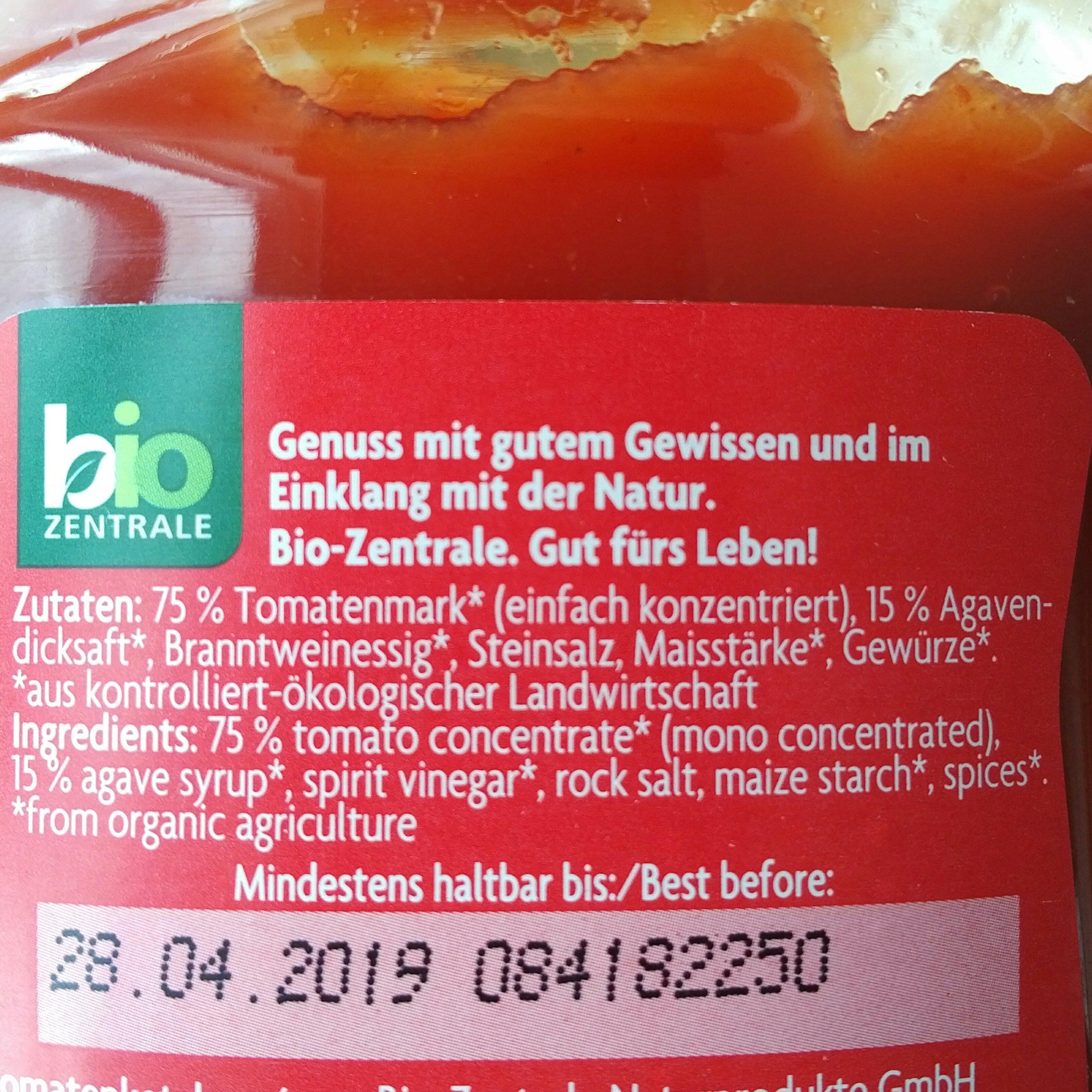 Biokids Tomatenketchup - Ingrediënten