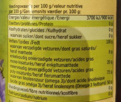 Huile de graines de lin - Voedingswaarden - fr