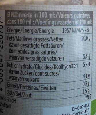 Mayonnaise à Salade Végétalienne - Nutrition facts
