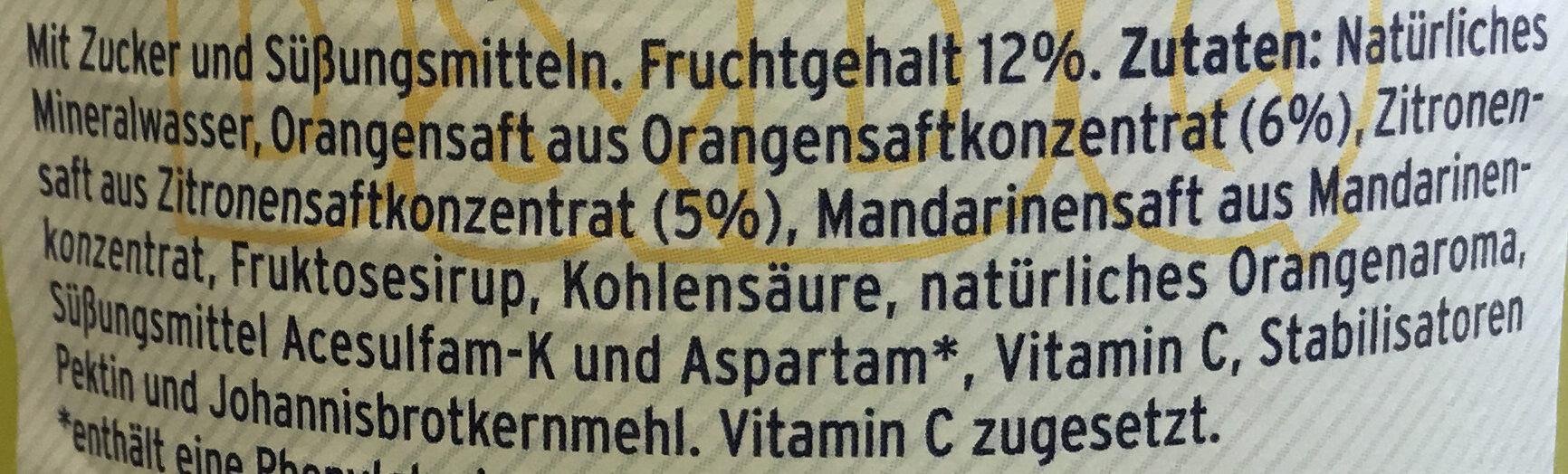 DAUNER ORange Kalorienarm - Ingrediënten - de