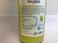 DAUNER ORange Kalorienarm - Voedingswaarden - de