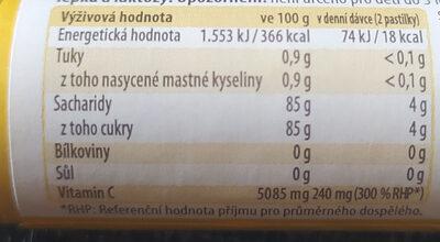 Intact banán - Informations nutritionnelles - cs