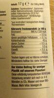 Backpulver - Valori nutrizionali - en
