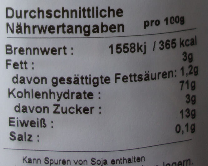 Scheckli Gourmet-Nudeln - Voedingswaarden - de