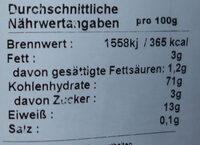 Bandnudeln 8 mm Original Hausmacher - Nutrition facts