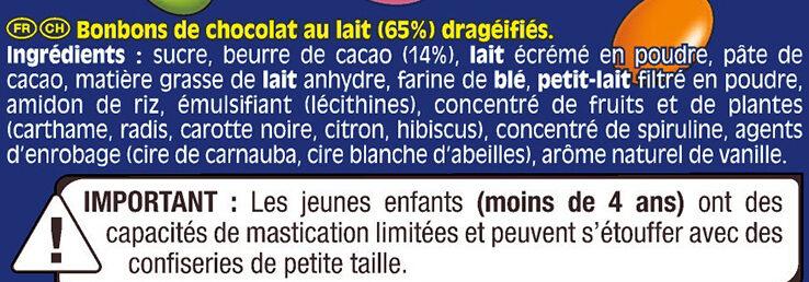 SMARTIES Mini bonbons chocolatés Sachet - Ingrédients - fr
