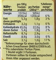 Kartoffel Püree das Komplette mit feinem Buttergeschmack - Informations nutritionnelles - de