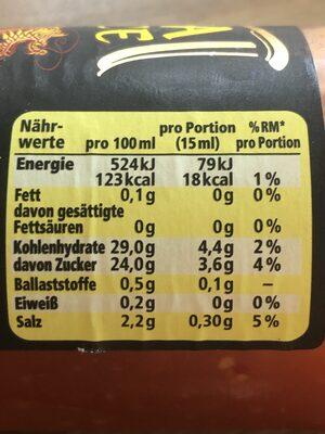 Magic Asia Süß Scharf, Internationale Würzsauce - Nutrition facts