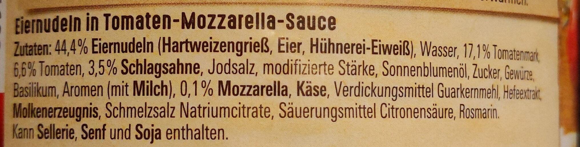 Penne Tomate-Mozzarella - Ingrédients - de
