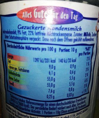 Nestle  Kondensmilch - Ingredients