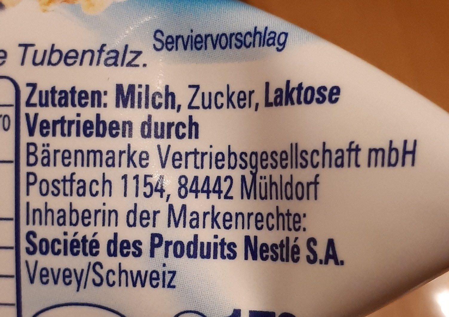 Milch Mädchen - Ingrédients