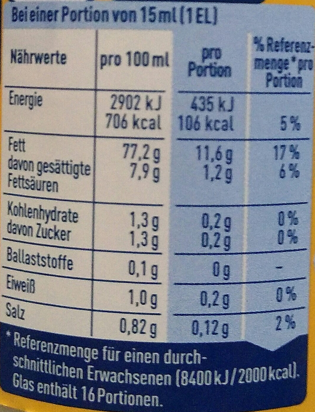 Delikatess Mayonnaise - Nutrition facts - de