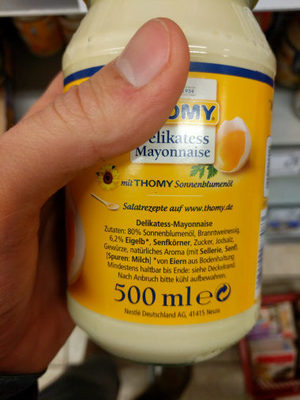 Mayonnaise Tommy - Inhaltsstoffe