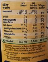 Reines Sonnenblumenöl - Nutrition facts