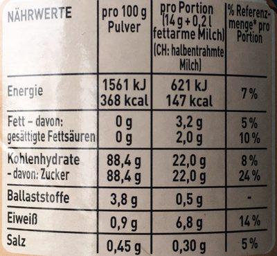 frappé Eiskaffee - Nährwertangaben - de