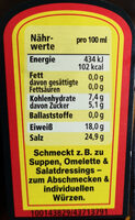Wurze Maggi - Nutrition facts