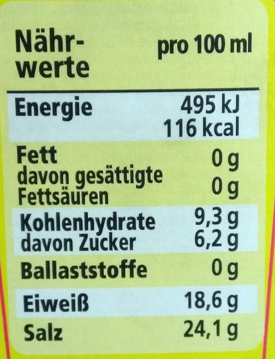 Maggi Würze - Informations nutritionnelles - en