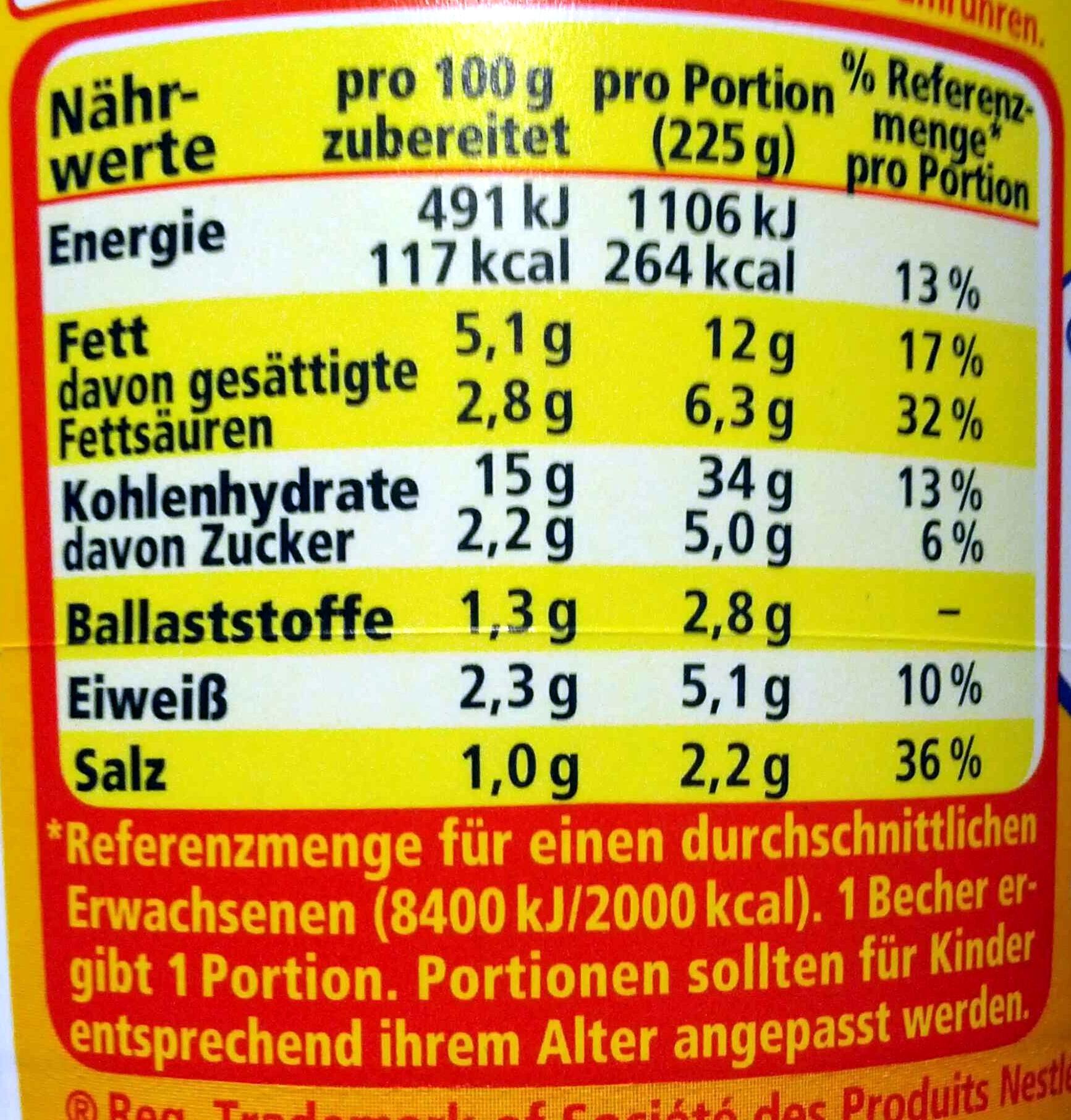 Kartoffelbrei mit Röstzwiebeln & Croutons - Informations nutritionnelles - de