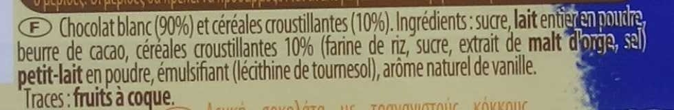 Crunch chocolat blanc - Ingredients
