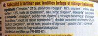 Tartinade lentilles beluga balsamiques - Ingrédients - fr