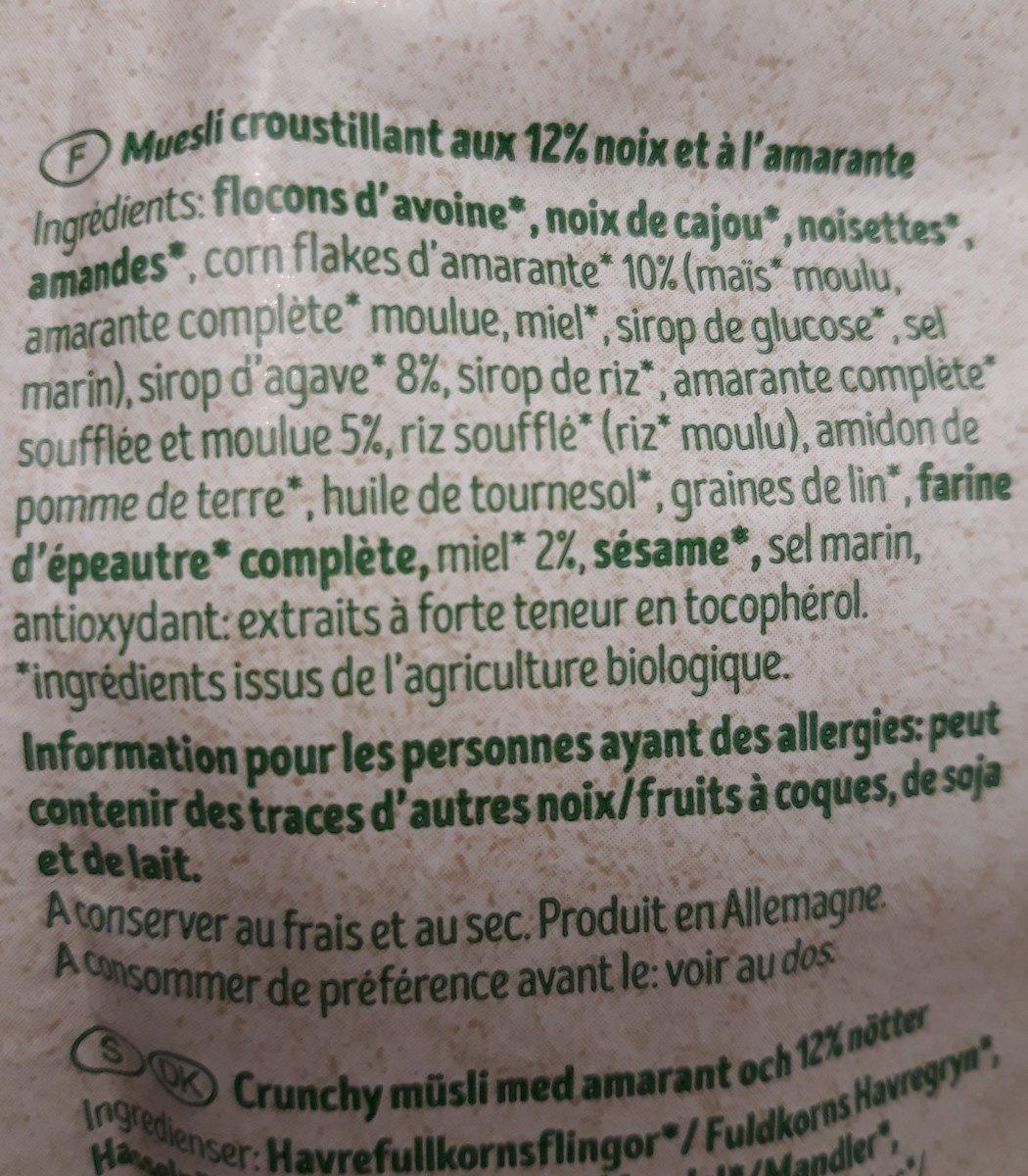 Crunchy amaranth - Ingrediënten