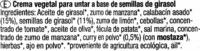 "Paté vegetal ecológico ""Tartex"" Cremisso - Calabacín - curry - Ingredients - es"