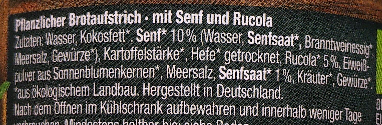 Pflanzliche Pastete Senf-Rucola - Ingredients
