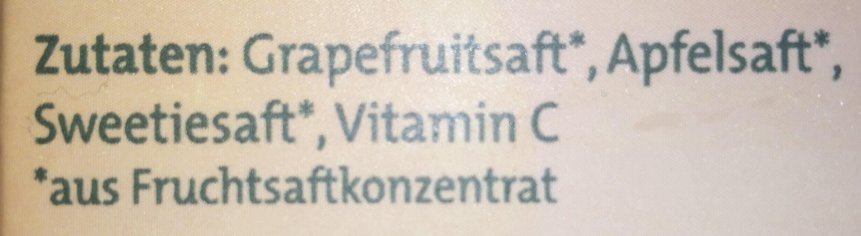 Sanfte Säfte Pink Grapefruit-Apfel-Sweetie - Zutaten - de