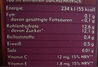 Amecke Antioxidantien - Valori nutrizionali - de