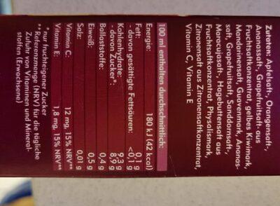 Amecke + Antioxidantien - Valori nutrizionali - de