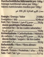 Cookie, Dinkel Haselnuss - Nutrition facts