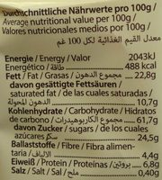 Cookie Kerniger Hafer - Nutrition facts