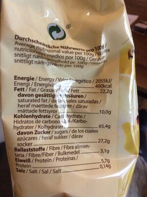 Keks Freunde Vanille - Informations nutritionnelles