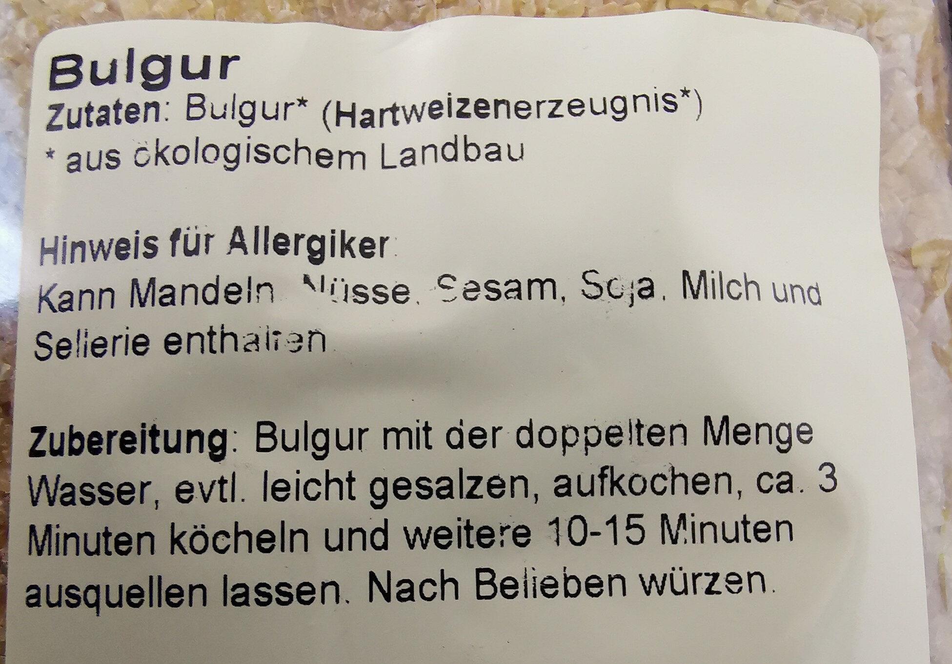 Bulgur - Ingredients