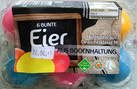 6 Bunte Eier aus Bodenhaltung - Product